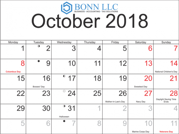 Calendario 18.Download Calendario Contributivo Octubre 2018 Tax Calendar October